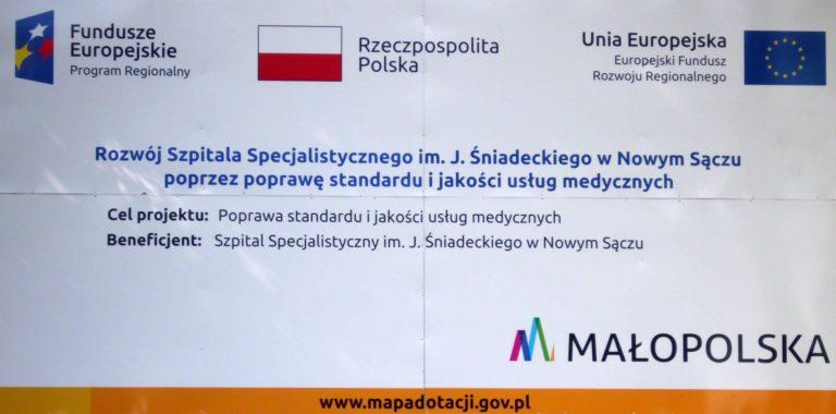 Fundusze europejskie rozwój szpitala specjalistycznego im. J. Sniadeckiego