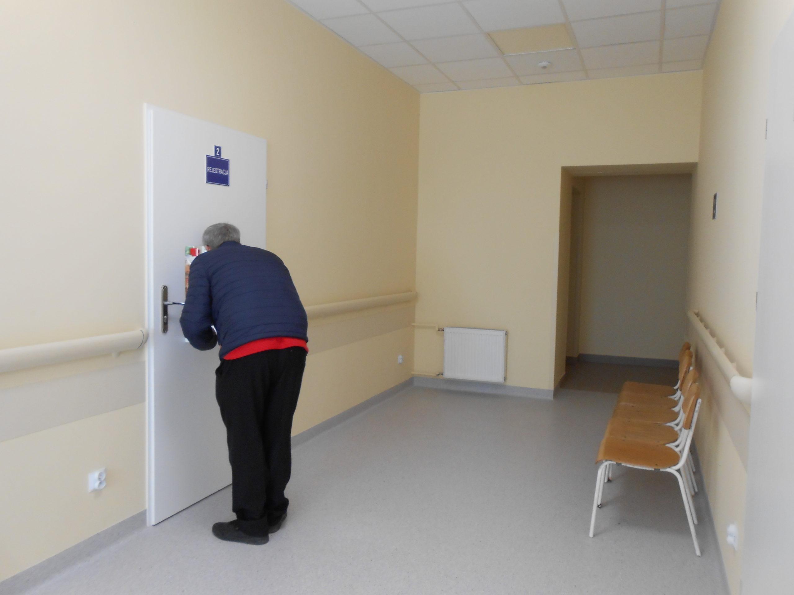 Rejestra poradni Urozowo - Ortopedycznej w wyremontowanym budynku po Oddziale Pulmonologicznym